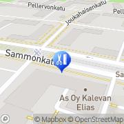 Kartta Kampaamo-Galleria Kinnari Seija Tampere, Suomi