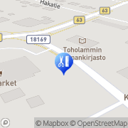Kartta Hierontapalvelu Isokangas Jarkko Toholampi, Suomi
