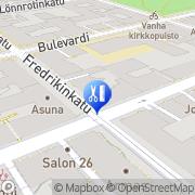 Kartta TS-Salonki Stenberg Terttu Helsinki, Suomi