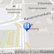 Kartta Kampaamo Tepa Helsinki, Suomi