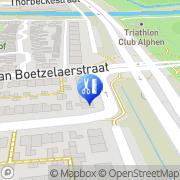 Kaart Linda's Nagels en Visagie Alphen aan den Rijn, Nederland