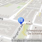 Kaart Voeterie Pedicuresalon De Den Helder, Nederland