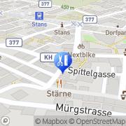 Karte KosmetX - Kosmetik & Relax Stans, Schweiz