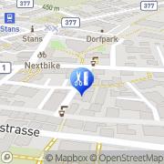 Karte Coiffure Monopol Stans, Schweiz