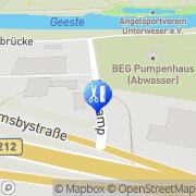 Karte Stöppelkamp Bremerhaven, Deutschland