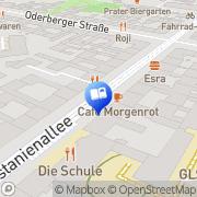 Karte Schwarze Risse Berlin, Deutschland