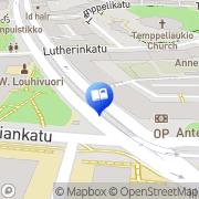 Kartta KY-Kirjakauppa Helsinki, Suomi