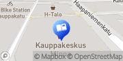 Kartta Suomalainen Kirjakauppa Kuopio - kauppakeskus Minna Kuopio, Suomi