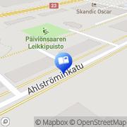 Kartta Muusan Kirjakauppa Ky Varkaus, Suomi