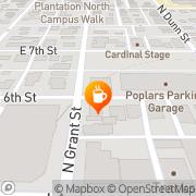 Map Runcible Spoon Bloomington, United States
