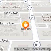 Map Dunkin' Saint Paul, United States