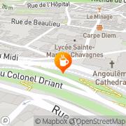 Carte de Pause Café Angoulême, France