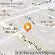 Karte Cafe King München, Deutschland