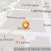Karta Espresso House Uddevalla, Sverige