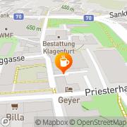 Karte Snooker-Billardcafe Klagenfurt, Österreich