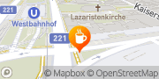 Karte Cafe Westend Wien, Österreich