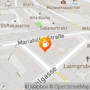 Karte Cafe Illy Wien, Österreich