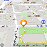 Karte Cafe am Keplerplatz Wien, Österreich