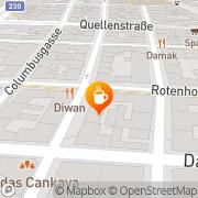 Karte Cafe Cameo Wien, Österreich
