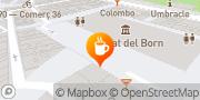 Map Cafè del Born Barcelona, Spain