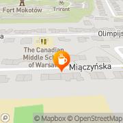 Mapa Kawiarnia Warszawa, Polska