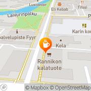 Kartta Ekokauppa ja -kahvila Maahinen Rauma, Suomi