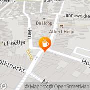 Kaart Déjà Vu Café Zierikzee, Nederland