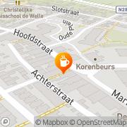 Kaart Café Bar De Paarderuif Kruiningen, Nederland