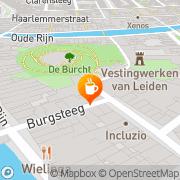 Kaart Sociëteit De Burcht Leiden, Nederland