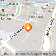 Kaart Bonte Koe Café De Leiden, Nederland