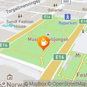 Map Barista Kaffebar Bergen, Norway