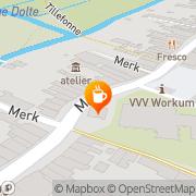 Kaart VVV Van Workum Workum, Nederland
