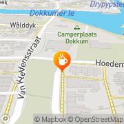 Kaart Lantaarn Café De Dokkum, Nederland