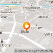 Kaart Pierrot Café Zutphen, Nederland