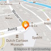 Kaart Westersingel Bar Groningen, Nederland