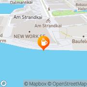 Karte Langnese-Café Hamburg, Deutschland