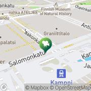 Map Finnkino Tennispalatsi Helsinki, Finland
