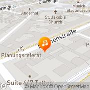 Karte Die Registratur München, Deutschland