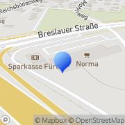 Karte dm-drogerie markt Fürth, Deutschland