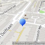 Kaart Salamander De Delft, Nederland