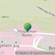 Karte Schule f allgemeine Gesundheits- u Krankenpflege am Bezirkskrankenhaus Reutte Ehenbichl, Österreich