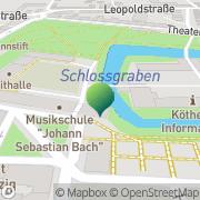 Karte Musikschule J.S. Bach Köthen, Deutschland