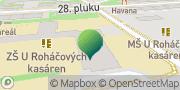 Map Základní škola U Roháčových kasáren Prague, Czech Republic