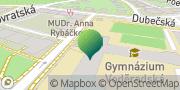 Map Gymnázium, Praha 10, Voděradská 2 Prague, Czech Republic