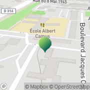 Carte de Groupe Scolaire Albert Camus Sarcelles, France