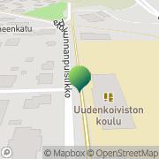 Kartta Porin kaupunki Uudenkoiviston koulu Pori, Suomi