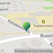 Kartta Porin kaupunki Toejoen koulu Pori, Suomi