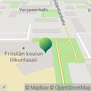 Kartta Raision kaupunki Friisilän koulu Raisio, Suomi