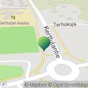 Kartta Raision kaupunki Kerttulan koulu Raisio, Suomi