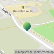 Kartta Raision kaupunki Kuloisten koulu Raisio, Suomi